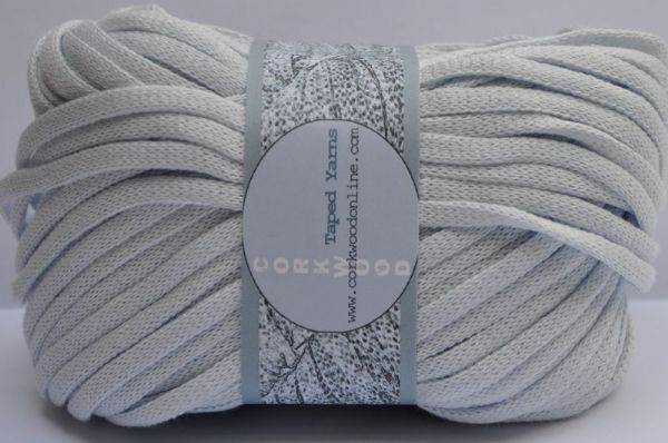 Haze blue cotton Chunky Tape yarn for knitting weaving and embellishing